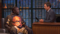 Hannibal Buress talks to Seth Meyers about specialty jumpsuits and rejected sketches
