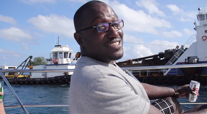 Hannibal Buress on a boat