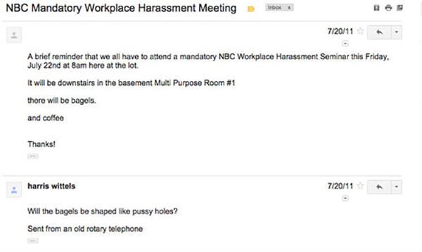 Harris Wittels NBC email