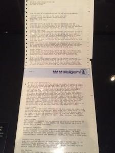 Lorne Michaels Original Mailgram sent to NBC