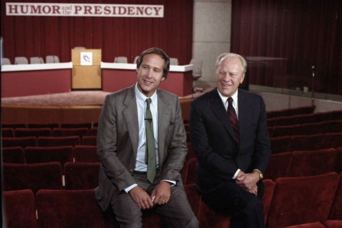 Chevy Chase and Jimmy Carter