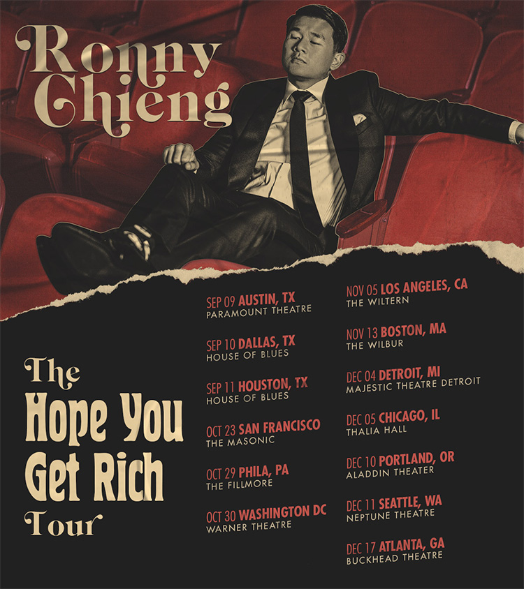 Ronny Cheing 2021 Tour